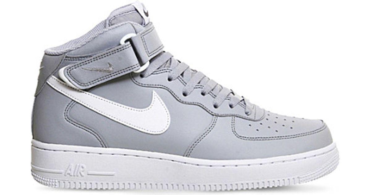 Nike Air Force Élevée En Tête Grise