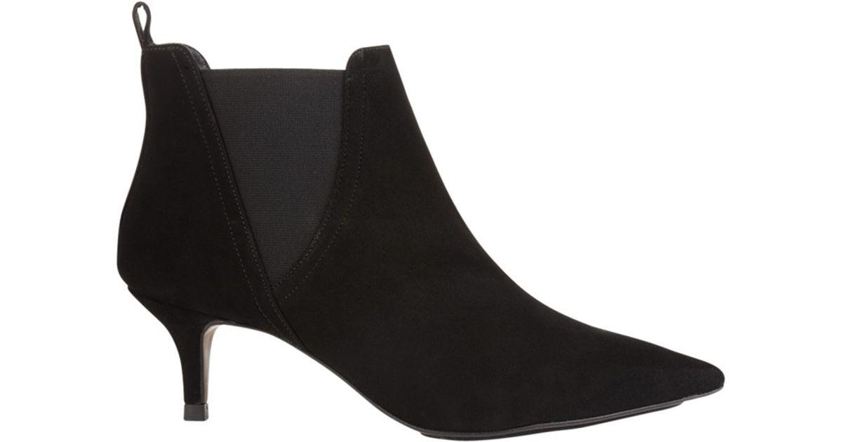 whistles oregan kitten heel boots in black lyst