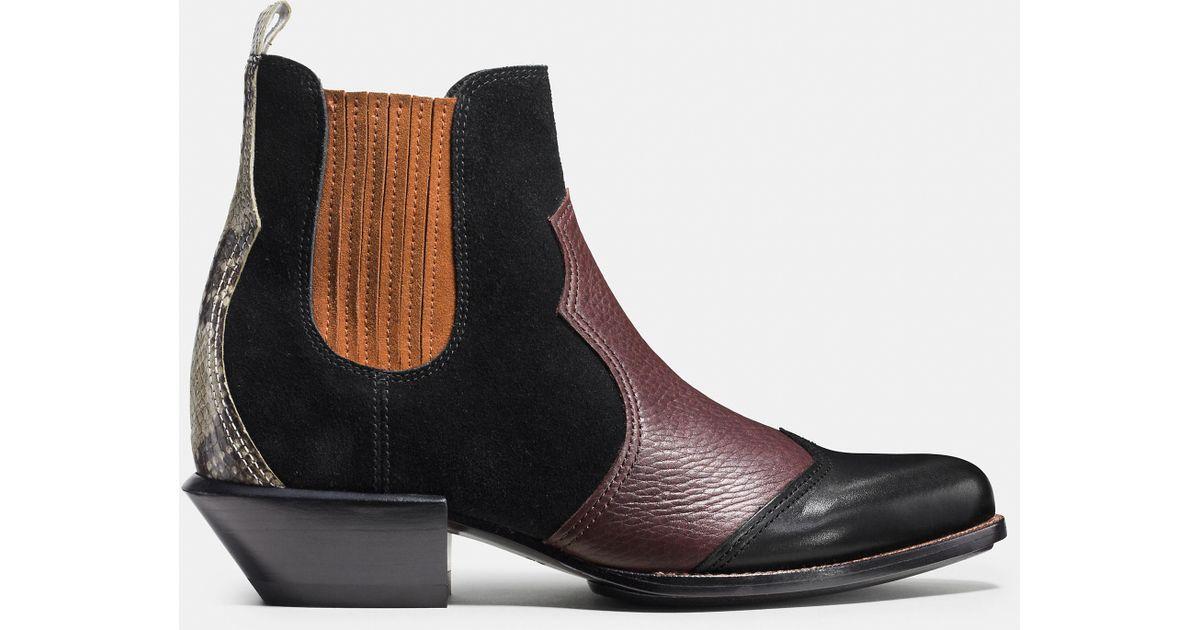 CoachALLEN BOOTIE - Cowboy/Biker boots - black HNuSkKJrx
