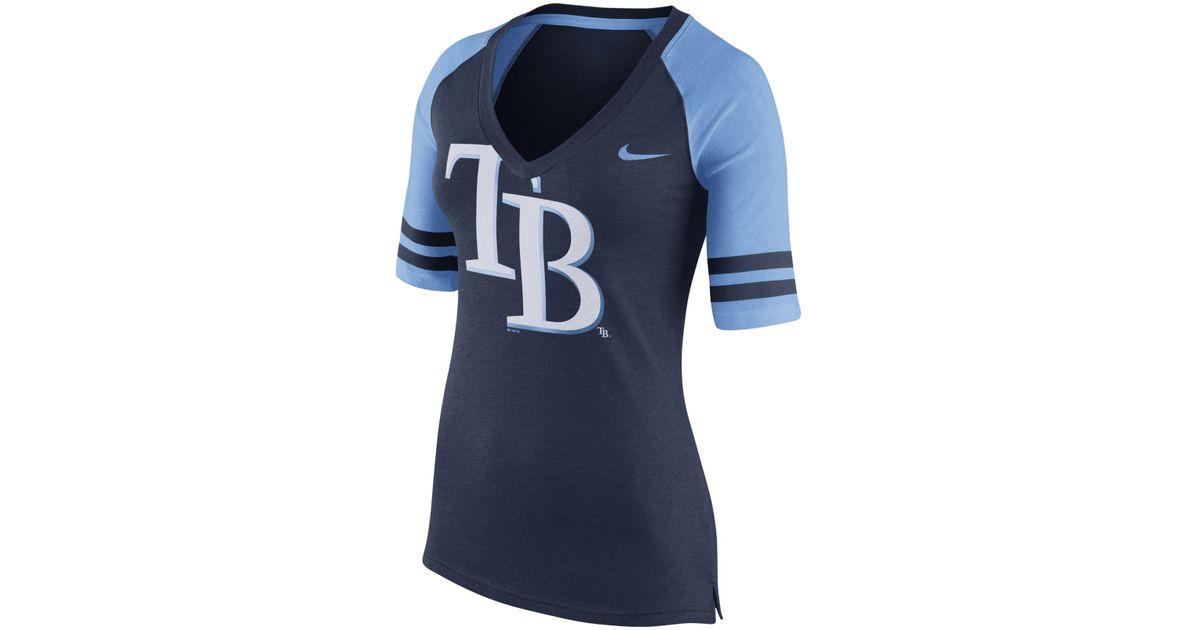 ef5ca08d Nike - Blue Women's Tampa Bay Rays Logo Fan Top T-shirt - Lyst