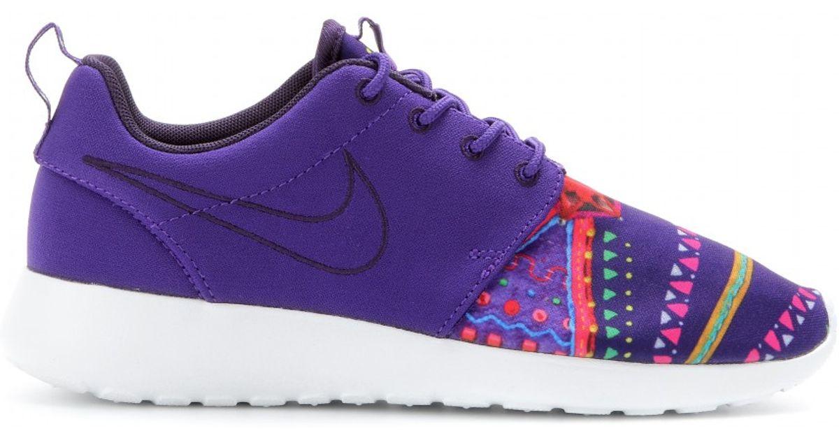 buy online a270c 98d71 Nike - Purple Roshe Run Midnight Craftwork Sneakers - Lyst