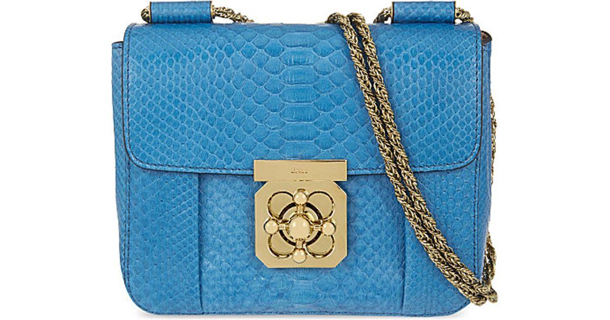 replica chloe bags - chloe blue leather handbag elsie
