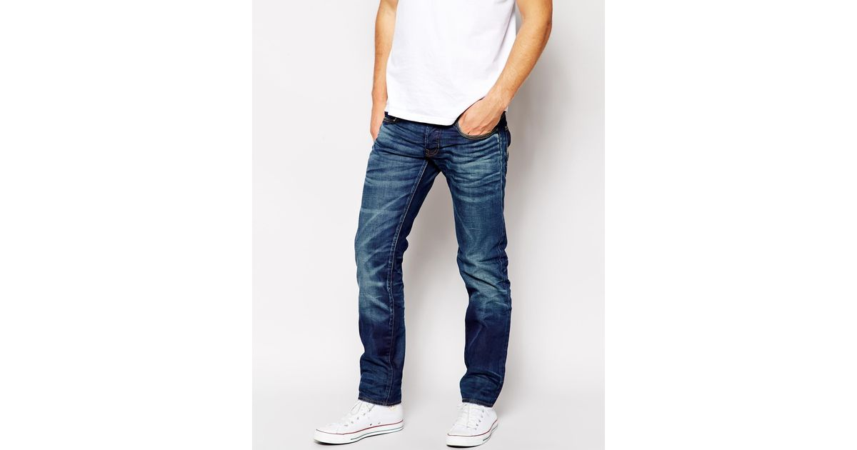5f18a854ee6 G-Star RAW G Star Jeans 3301 Low Tapered Vintage Medium Aged in Blue for  Men - Lyst