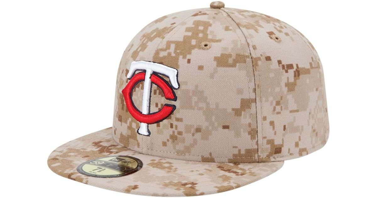 29f6589acb8 Lyst - KTZ Minnesota Twins Mlb Memorial Day Stars Stripes 59fifty Cap in  Natural for Men