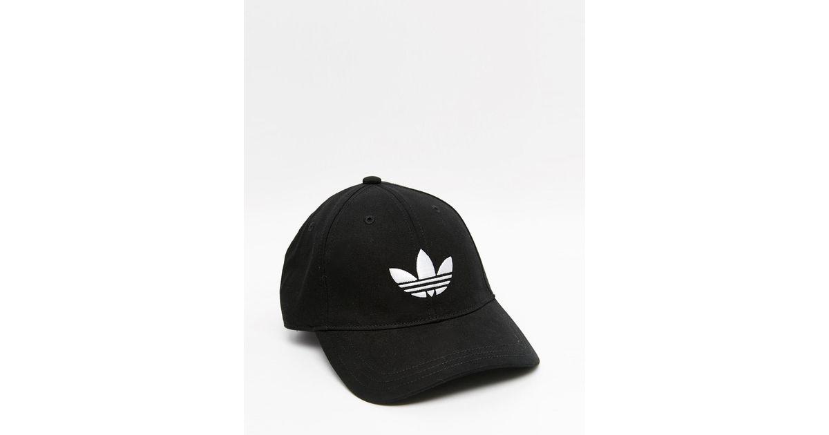 013d2ae40a5 adidas Originals Trefoil Cap In Black in Black for Men - Lyst