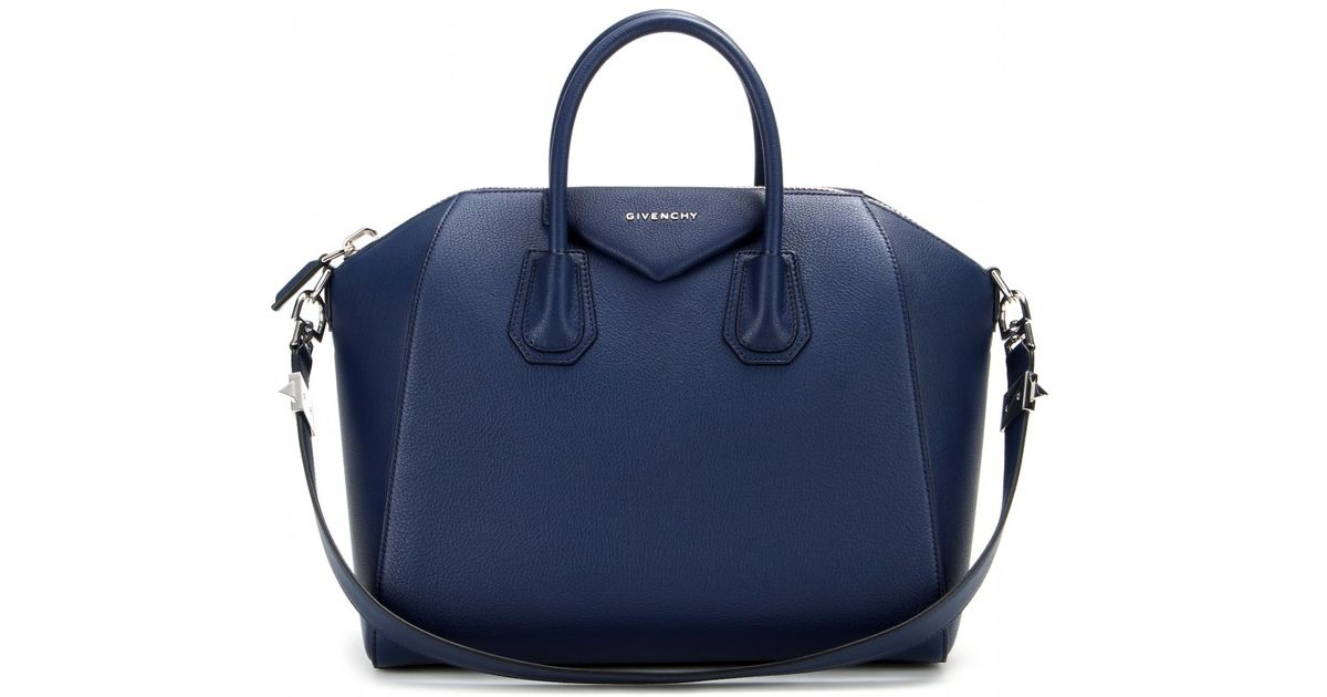 c0c9941a96b Givenchy Antigona Medium Leather Tote in Blue - Lyst