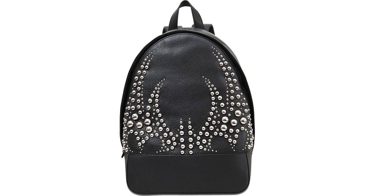 Lyst - Alexander Wang Bookbag Studded Pebble Silver Backpack in Black f35727ad5fd94