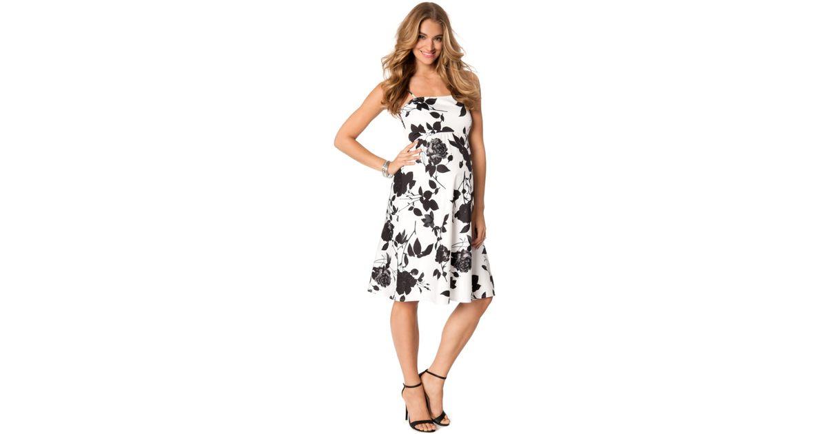 4c4dc514e31 Lyst - Jessica Simpson Maternity Floral-print A-line Dress in Black