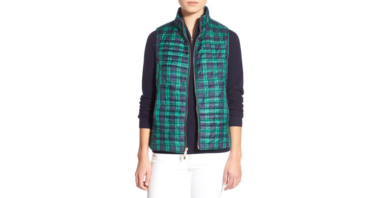 Lyst Vineyard Vines Holiday Plaid Quilted Vest In Blue