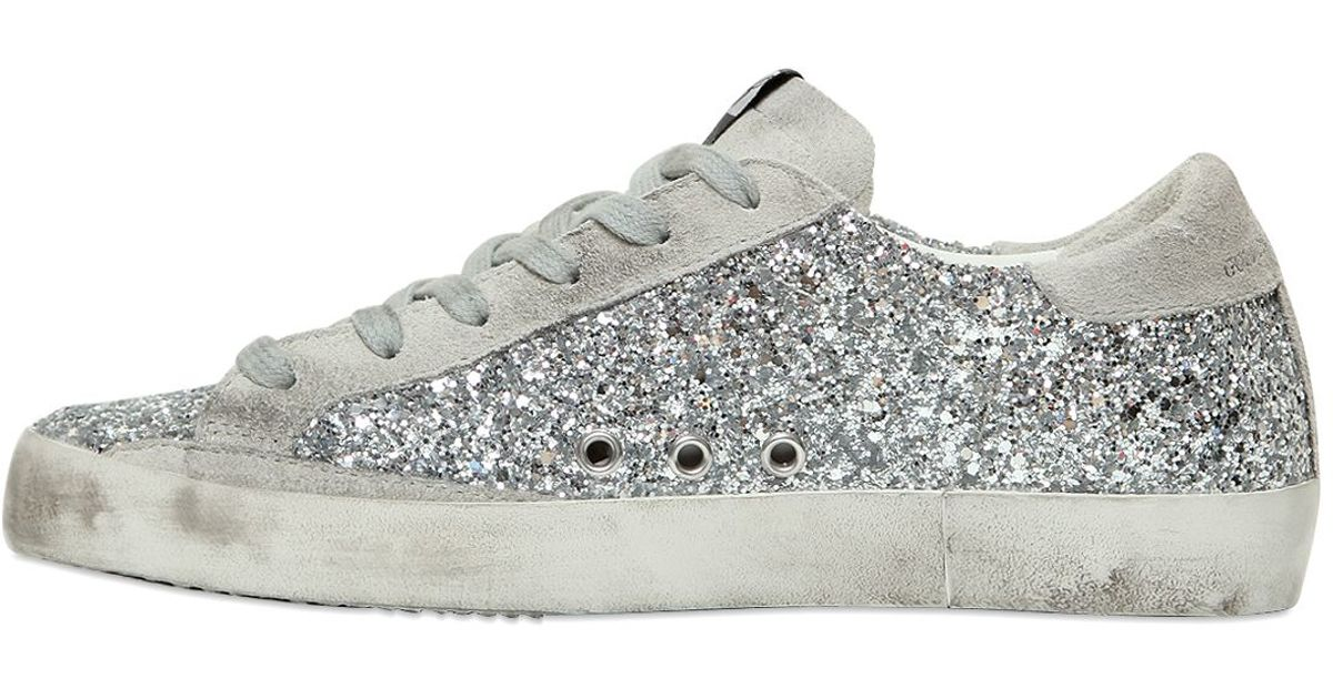 7a0c365ca7a8e6 Lyst - Golden Goose Deluxe Brand Super Star Glitter   Suede Sneakers in  Metallic