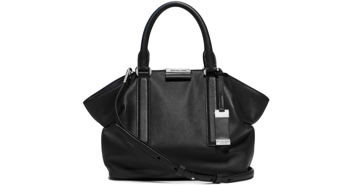 0a329723a9de Michael Kors Lexi Small Leather Satchel in Black - Lyst