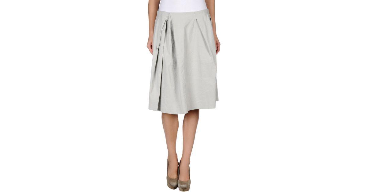 acne denim skirt in gray light grey lyst