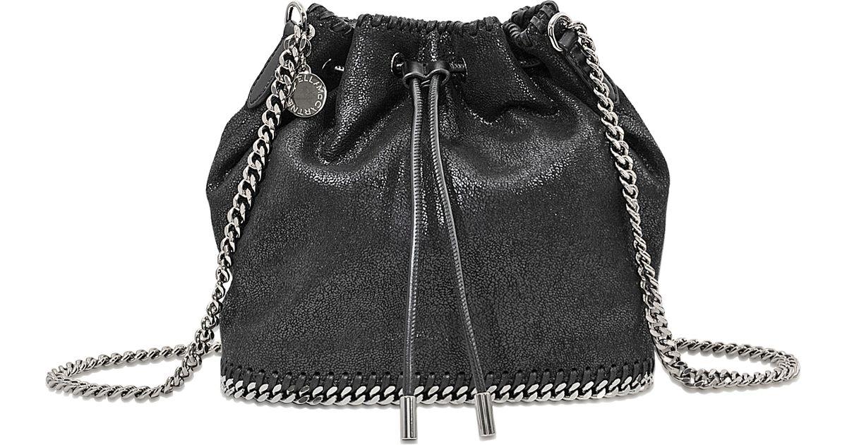 ca8c1178bd Stella Mccartney Falabella Bucket Bag in Black - Lyst