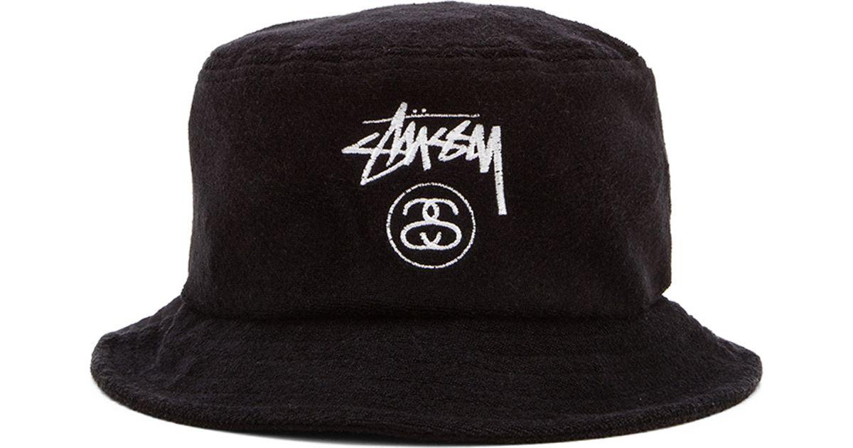60efce5f632 Lyst - Stussy Terry Stock Lock Bucket Hat in Black for Men