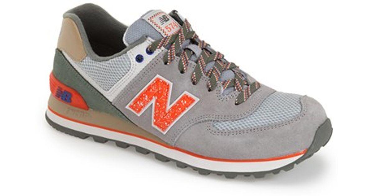new balance 574 gray and orange