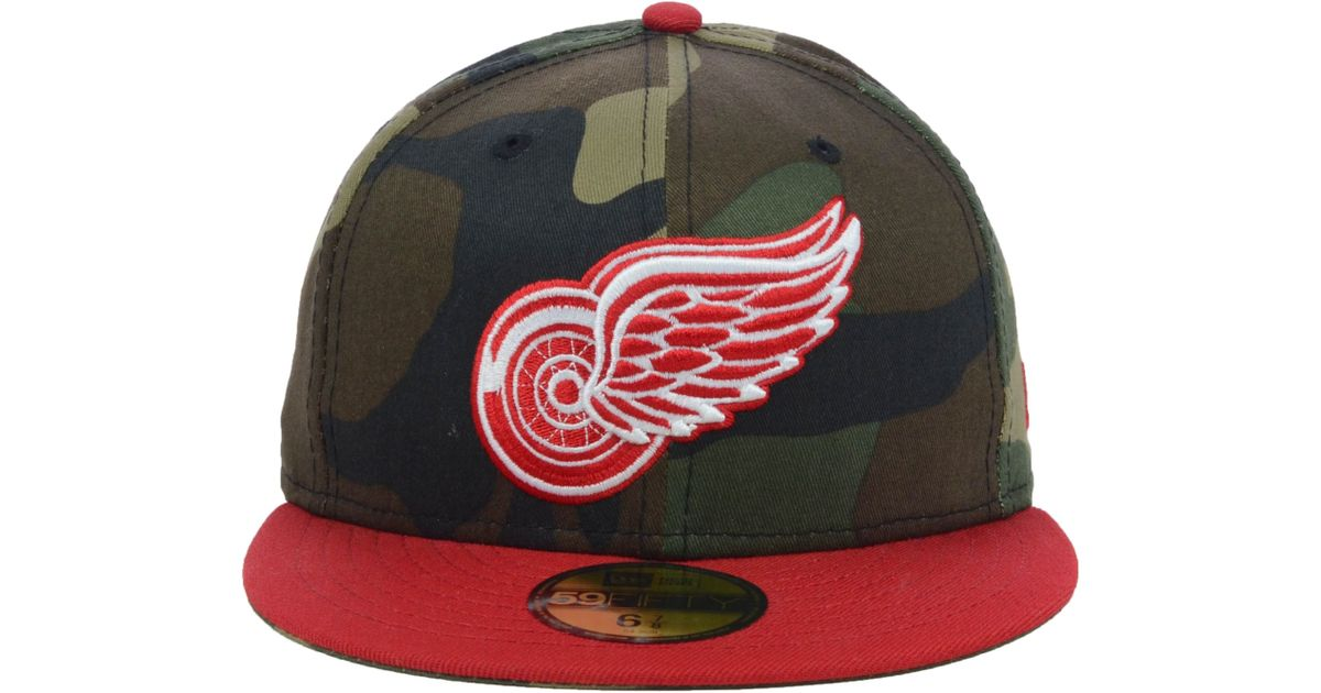 2872dec516e17 Lyst - KTZ Detroit Red Wings Nhl Woodland Tc 59fifty Cap in Green for Men