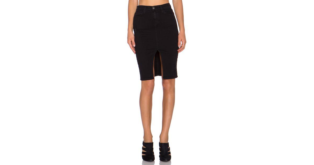 40c15bd5419262 Current/Elliott High Waist Pencil Skirt in Black - Lyst