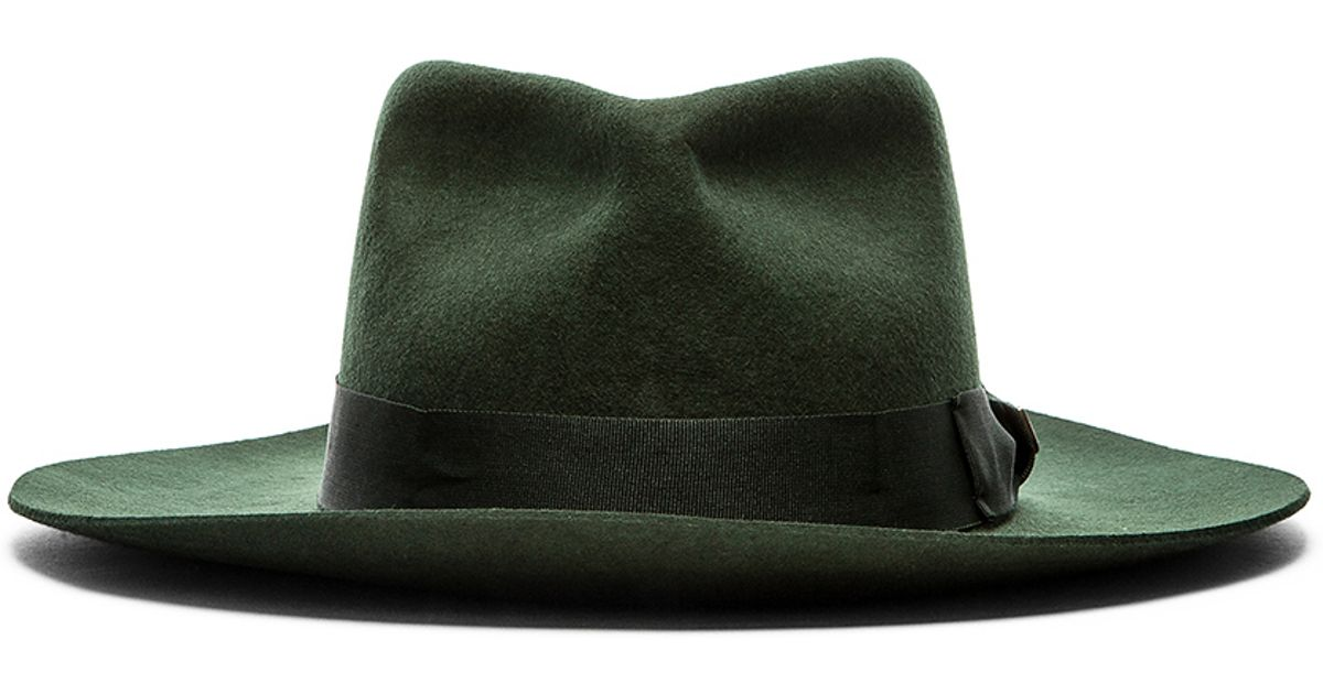 a835a2bd9372f Brixton Lopez Fedora in Green for Men - Lyst