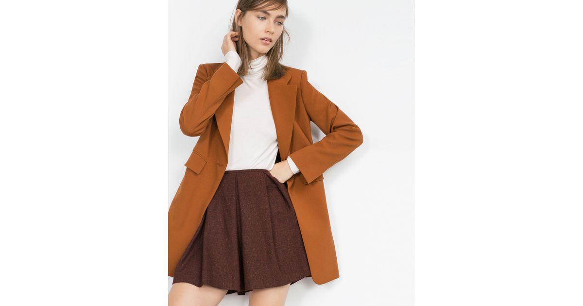 zara pleated mini skirt in purple lyst