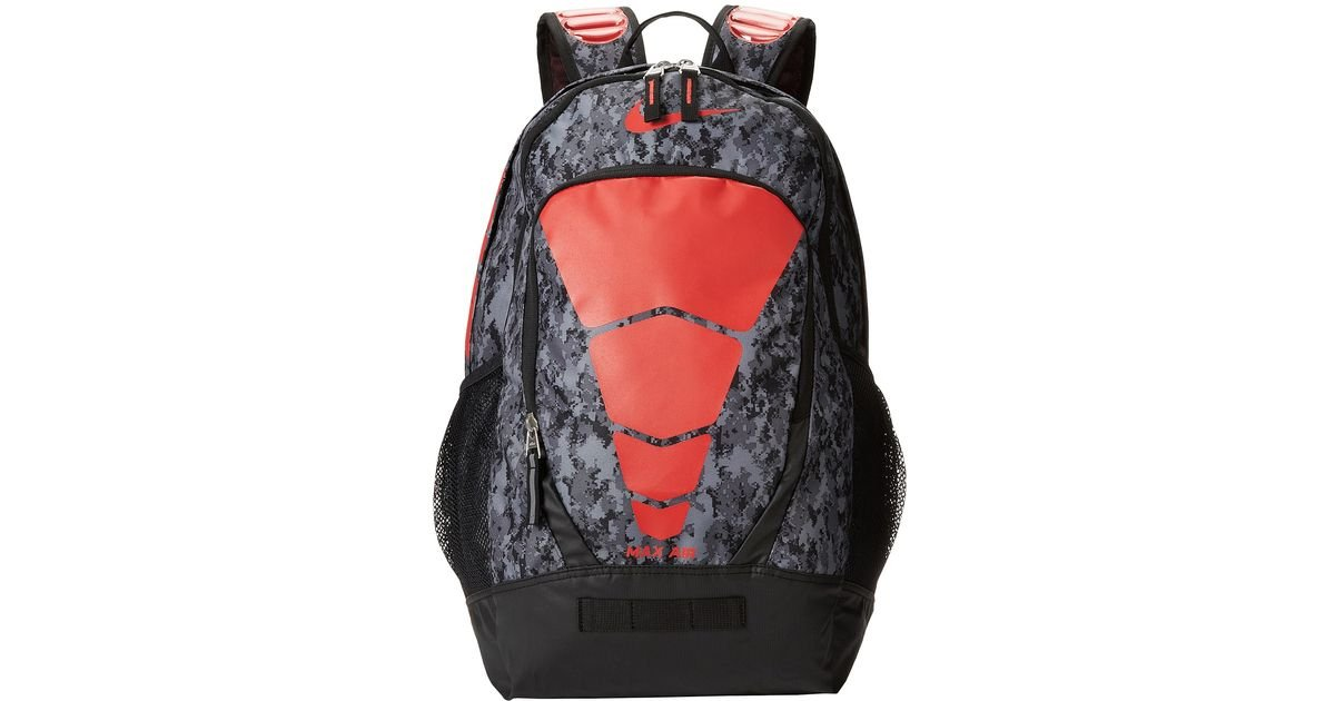 nike max air backpack red camo