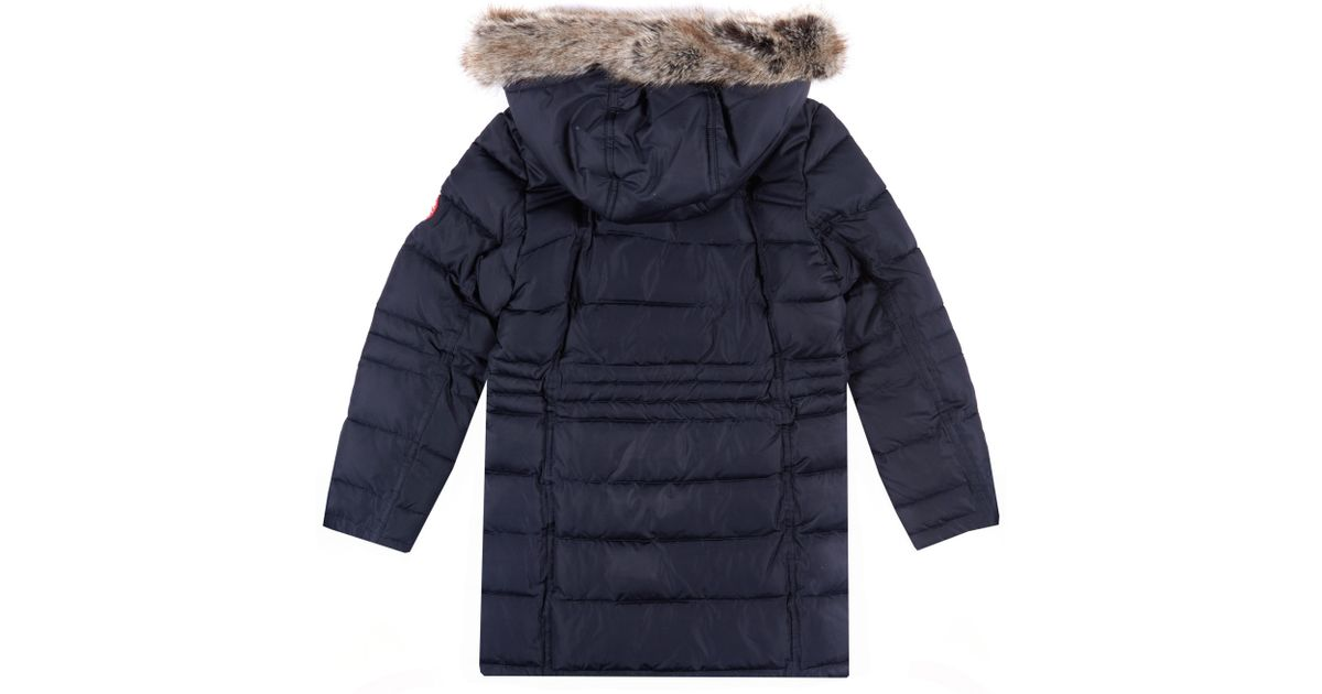 6a0c9ee6f1fc Barbour Girls  Landry Long Quilt Coat in Blue - Lyst