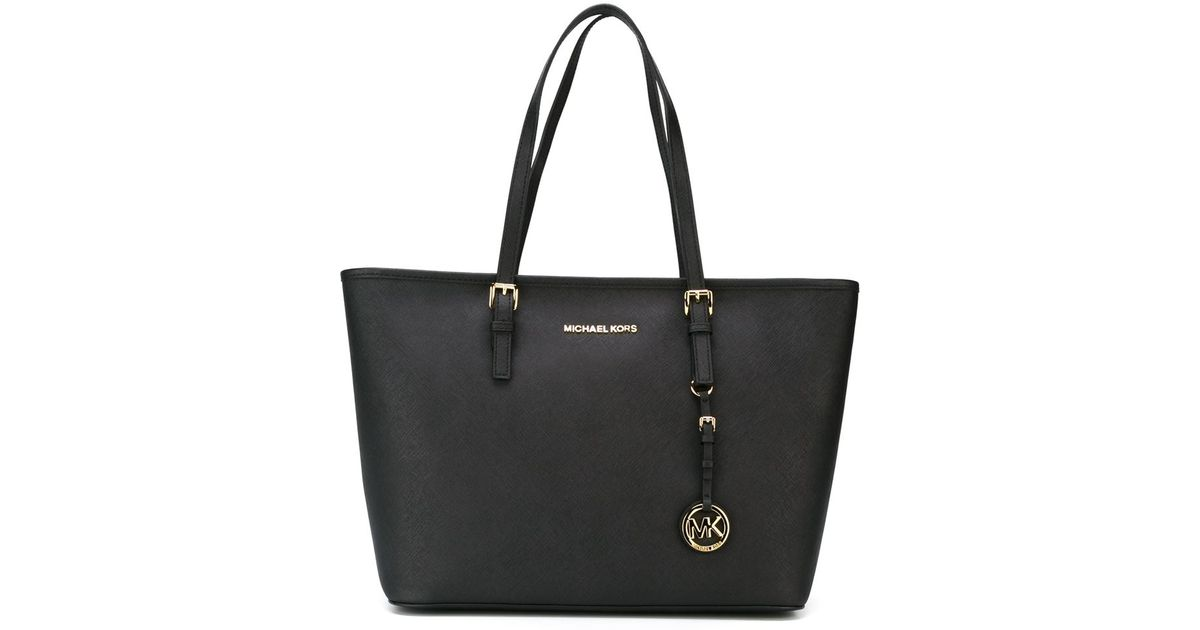 michael michael kors 39 jet set travel 39 tote in black lyst. Black Bedroom Furniture Sets. Home Design Ideas