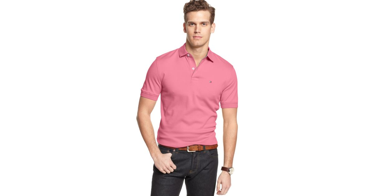 26f44eaa473a37 Lyst - Tommy Hilfiger Jacob Interlock Polo Shirt in Pink for Men
