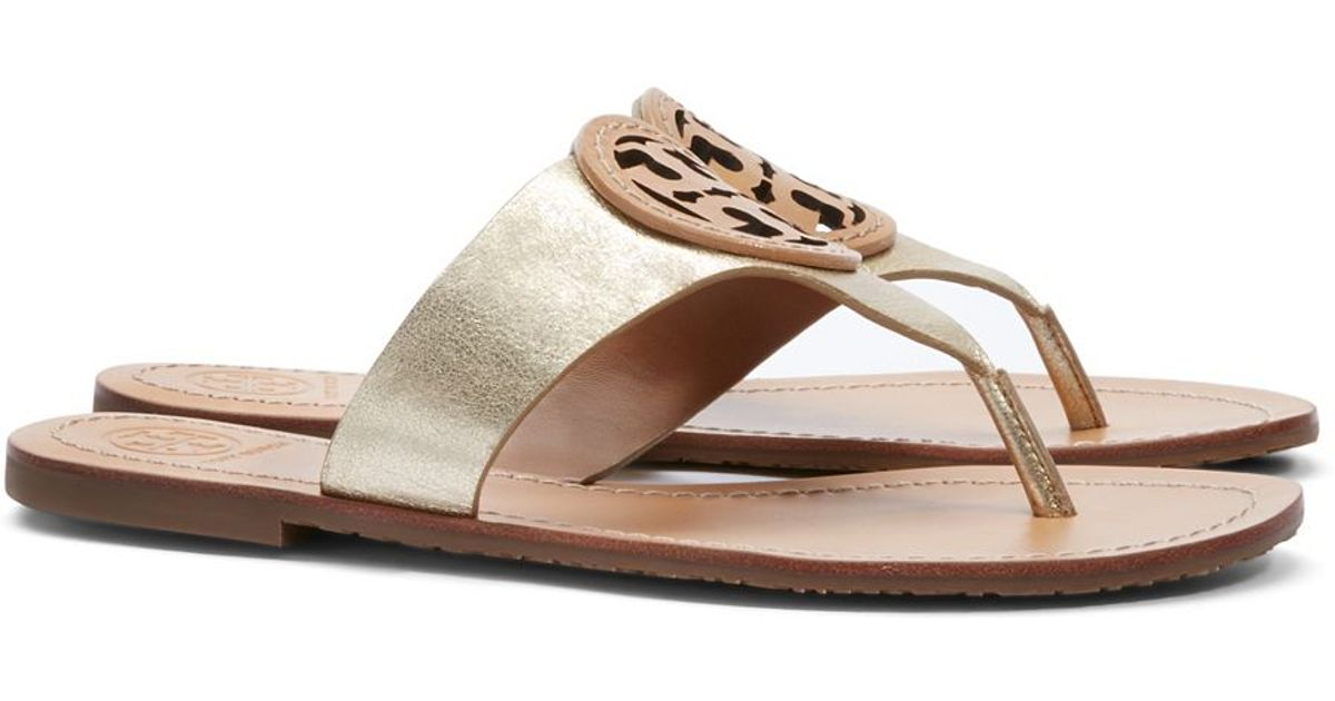 708156ce2 Lyst - Tory Burch Louisa Flat Thong Sandal in Metallic