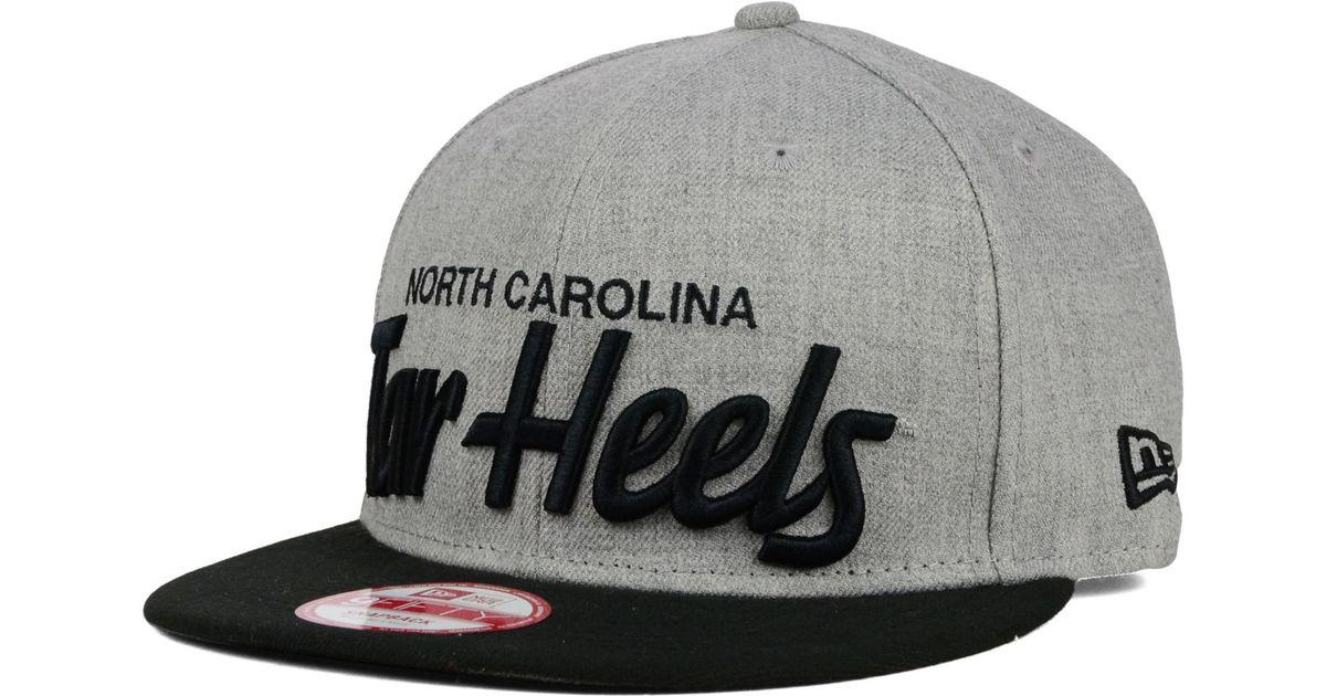 4403cb86f54 Lyst - KTZ North Carolina Tar Heels Script It 9fifty Snapback Cap in Gray