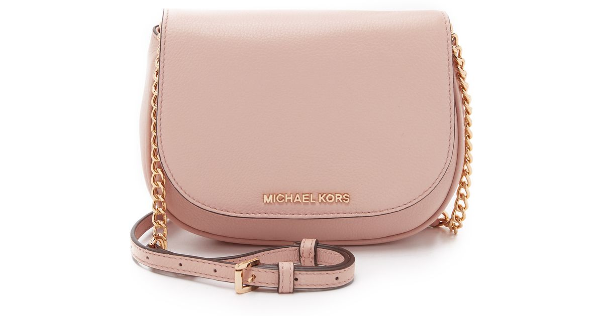 b322832fbf06 ... authentic lyst michael michael kors bedford small cross body bag in  pink bf739 346e2