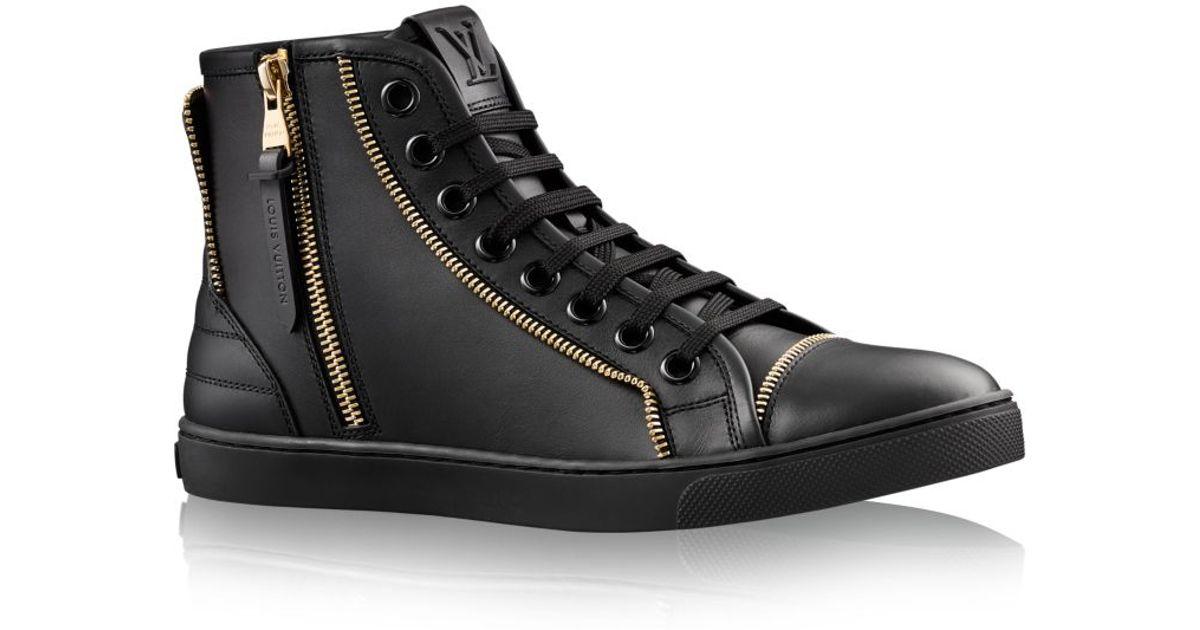 louis vuitton punchy sneaker boot in black lyst