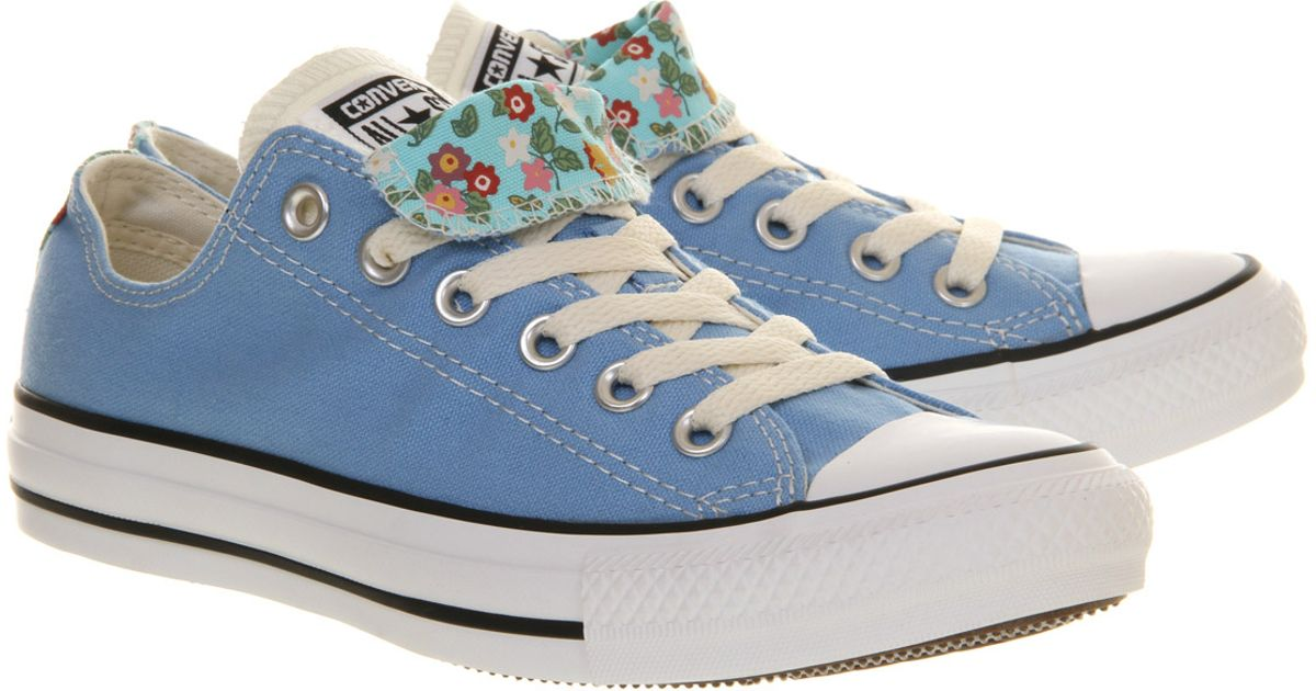 dca8b9082b2d Lyst - Converse All Star Ox Low Double Tongue Caroline Blue Floral Smu in  Blue for Men