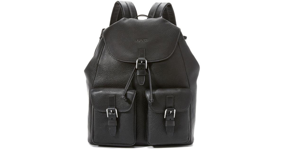 d35f182c57ea Michael Kors Kent Nylon Cargo Backpack in Black for Men - Lyst