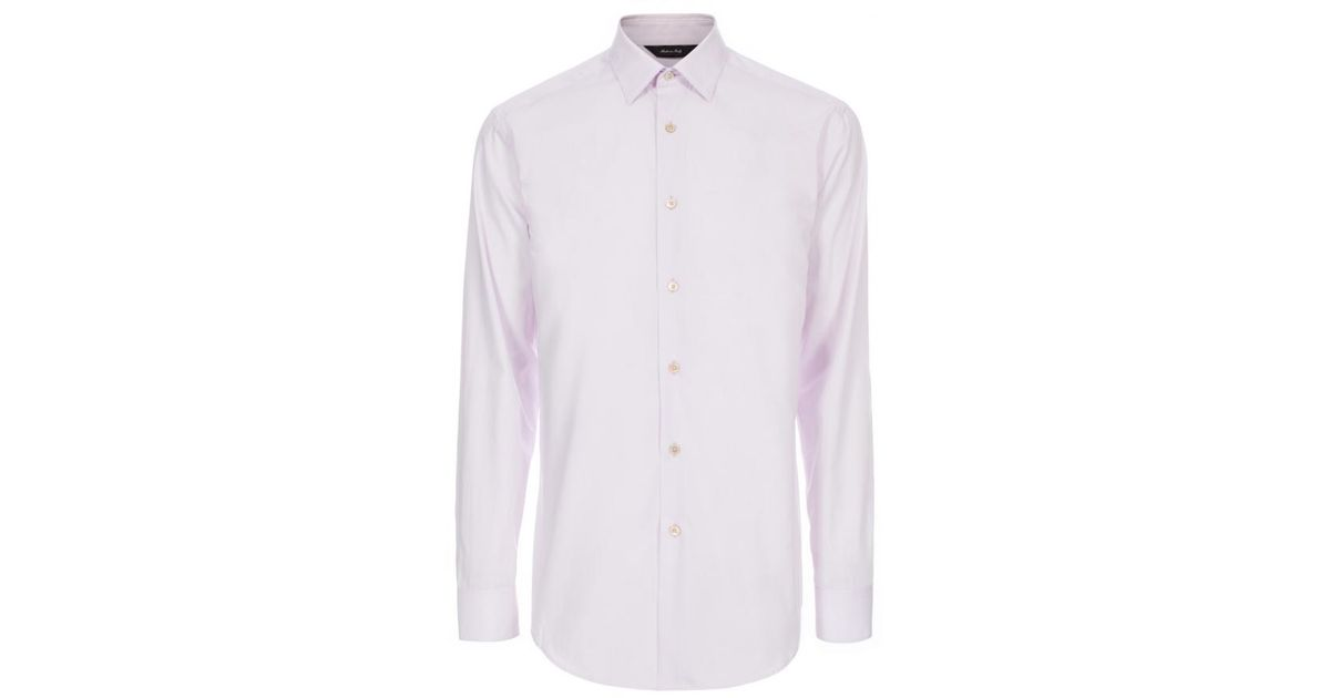 Paul smith men 39 s tailored fit light purple cotton shirt in Light purple dress shirt men