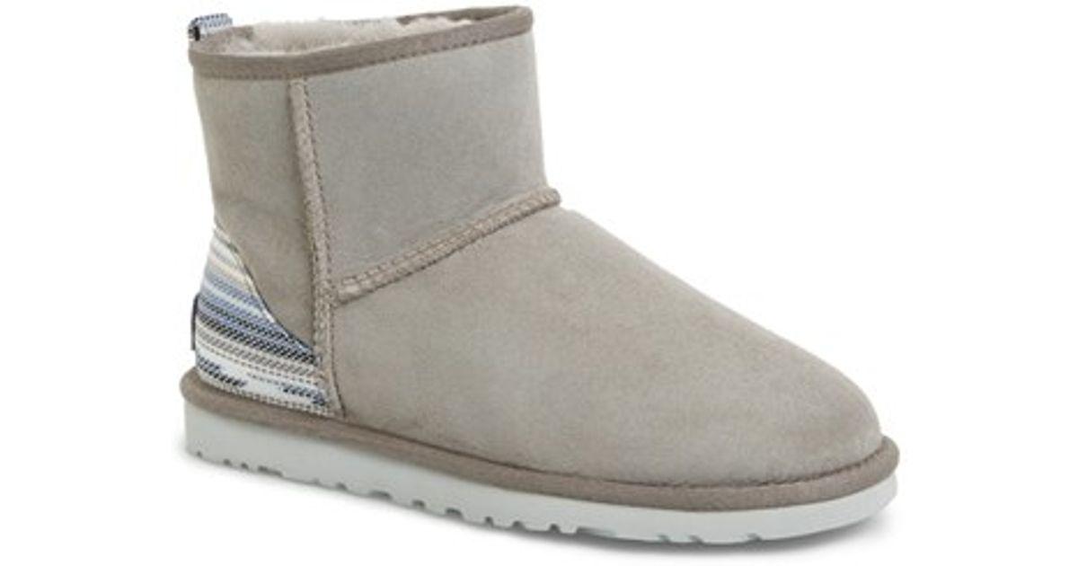 a3e57a51d10 UGG - Gray Classic Mini Serape Shearling-Lined Boots - Lyst