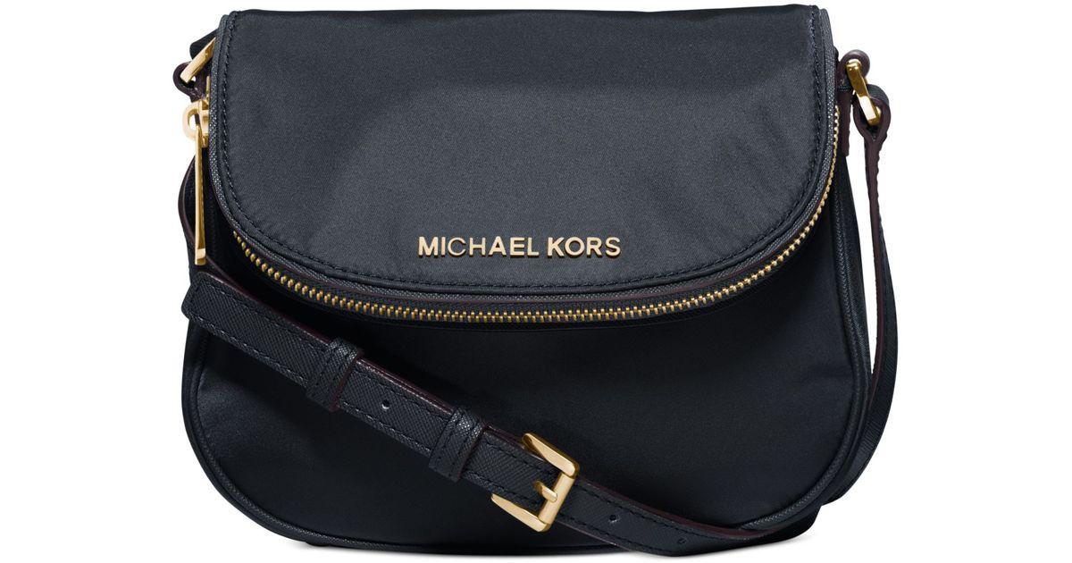 0e74abe02759 Lyst - Michael Kors Michael Bedford Nylon Flap Crossbody in Blue