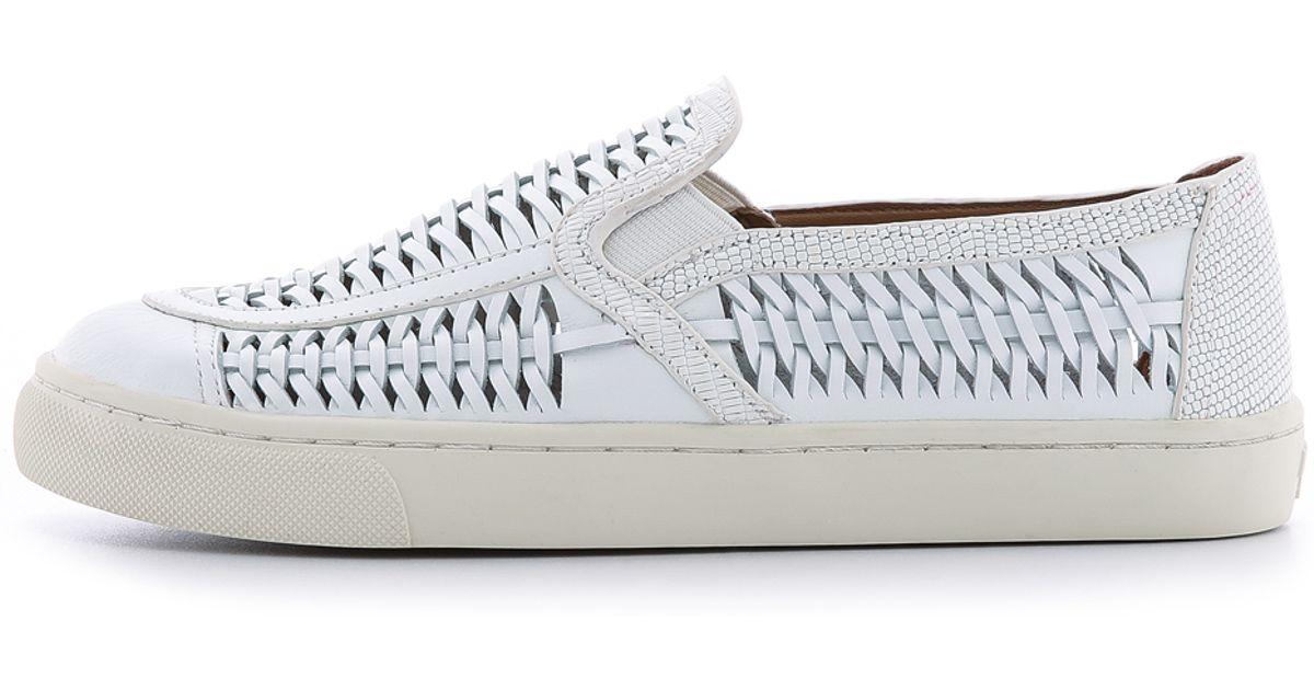 9e2692e87d06 Tory Burch Huarache Slip On Sneakers - White cotton ivory in White - Lyst