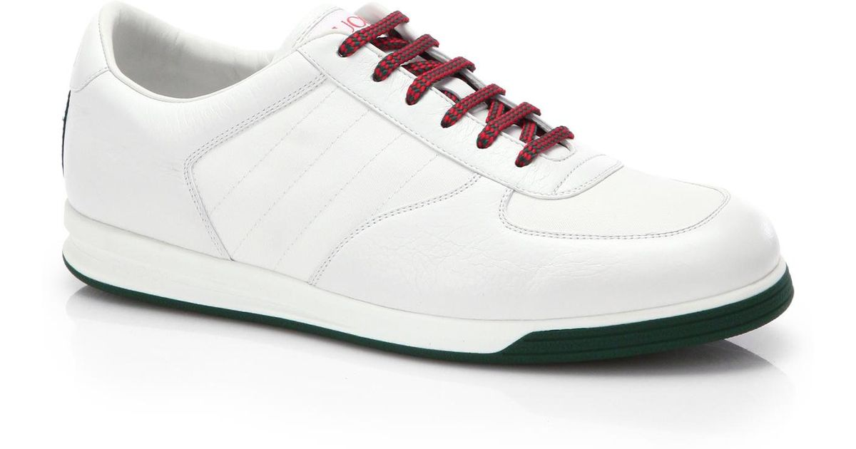 gucci 84 tennis sneaker. gucci 1984 leather anniversary sneakers in white for men lyst 84 tennis sneaker o