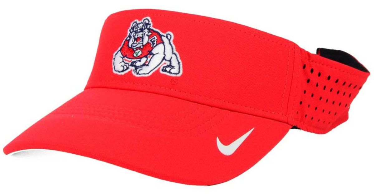 competitive price 7fbb3 19e51 Lyst - Nike Fresno State Bulldogs Vapor Visor  in Red for Men ... 85ee8060b9a