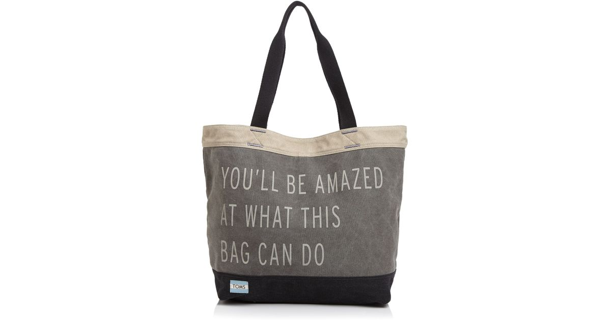 Lyst Toms Tote Transport Khaki You Ll Be Amazed What This Bag Can Do In Gray