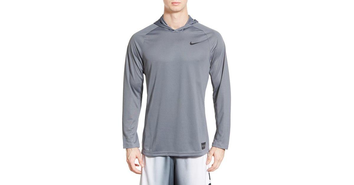 e6deb785bb2b Lyst - Nike  elite Shooter - Dri-fit  Long Sleeve Hooded Basketball Shirt  in Gray for Men