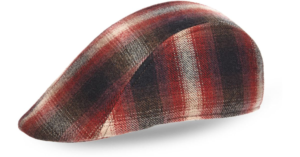 Lyst - Woolrich Plaid Stetson Cuffley Ivy Cap in Red for Men 5141c23b2ed
