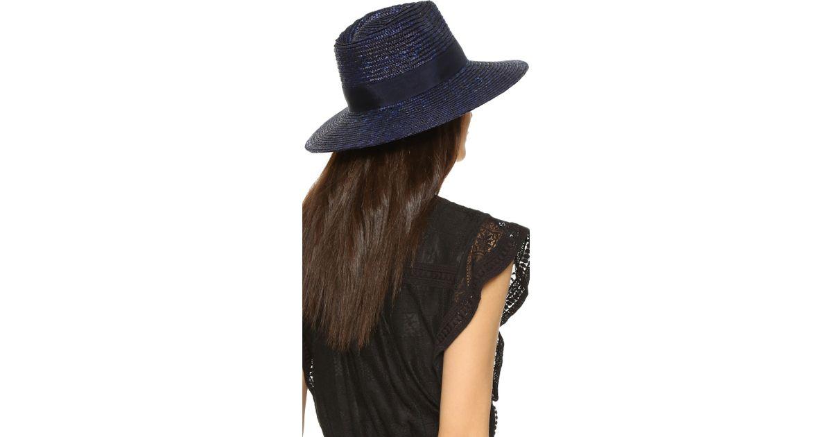 Lyst - Brixton Joanna Hat in Blue 189627e647ca