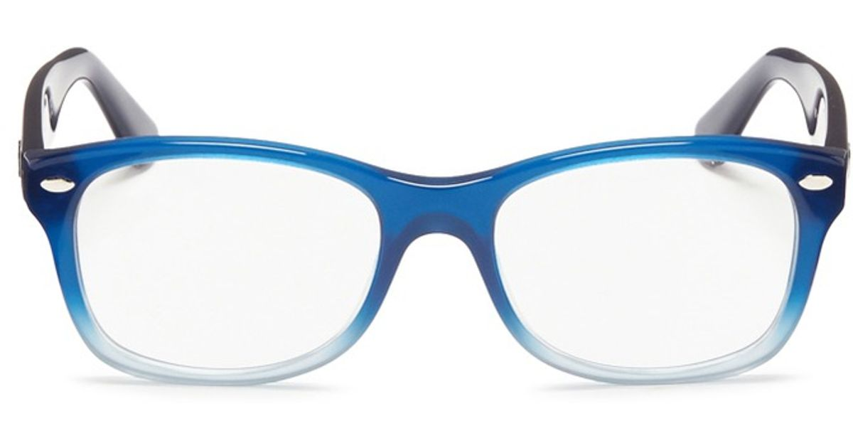 Ray-Ban Junior Square Frame Ombré Acetate Optical Glasses in Blue - Lyst