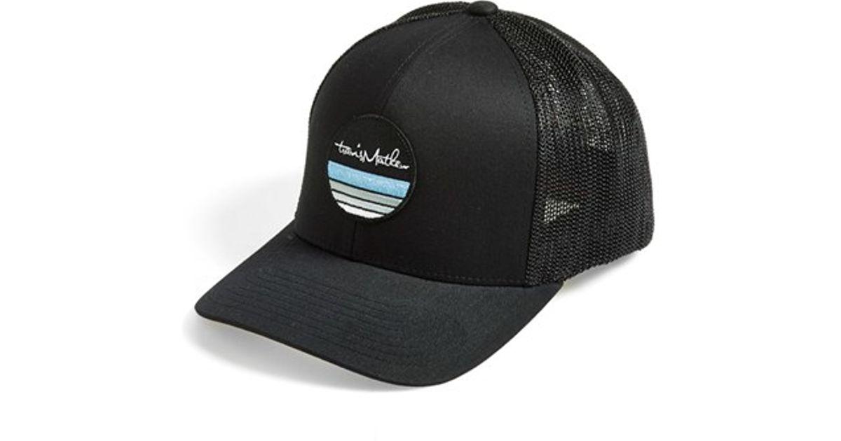 reputable site e7fc6 df48f ... best price lyst travis mathew mcknight trucker hat in black for men  0ce17 33a6e ...