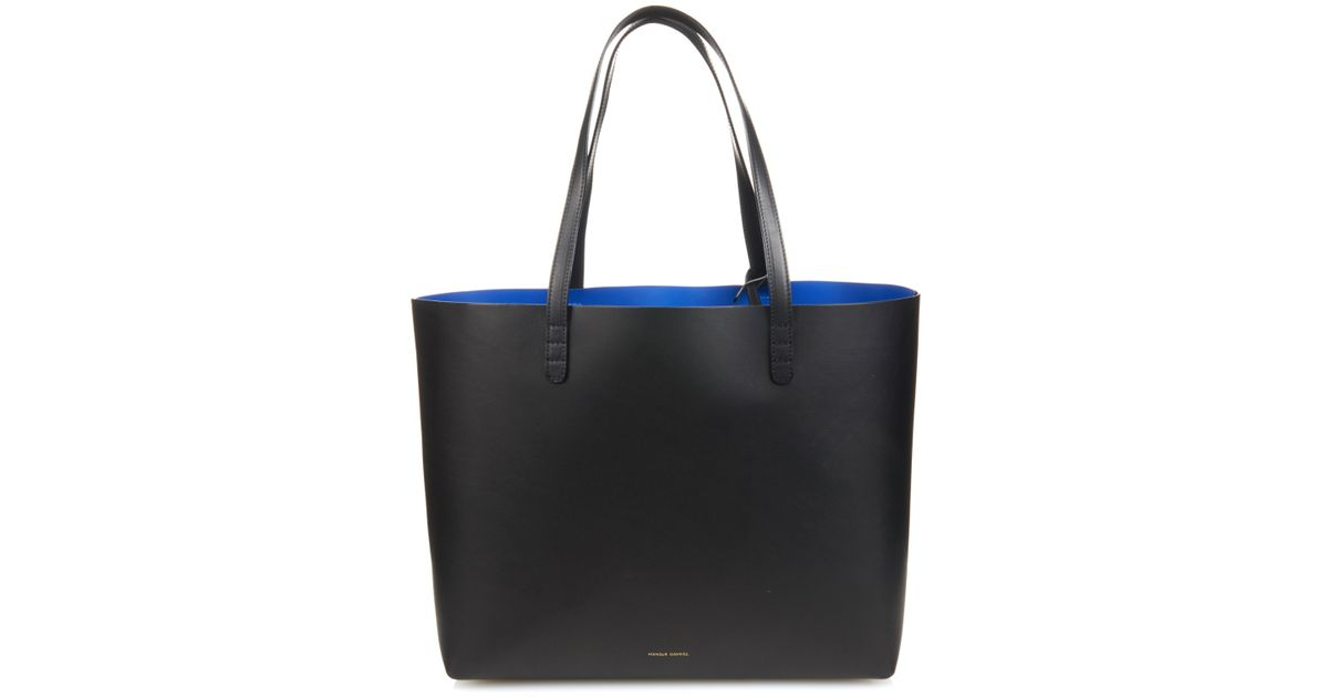 Womens Triangle Leather Tote Bag Mansur Gavriel aGccasz