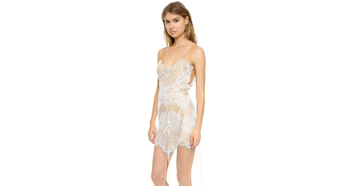 e9d8a27b3743d For Love & Lemons Antigua Maxi Dress in White - Lyst