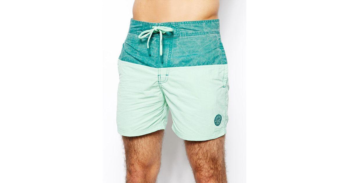 c698590d19 Pull&Bear Basic Swim Shorts in Green for Men - Lyst
