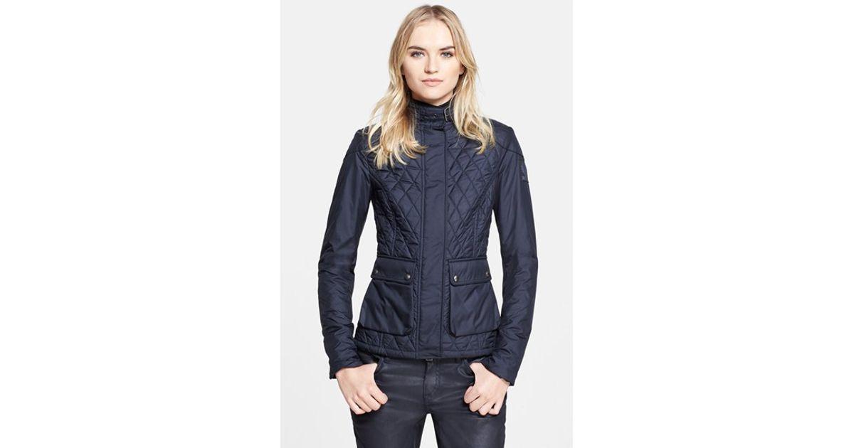 6988abe4589e Lyst - Belstaff  aynsley  Lightweight Tech Quilted Jacket in Blue