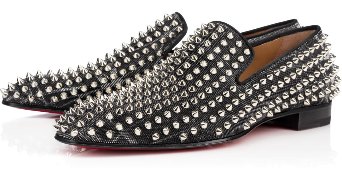 488c7fbddc15 Lyst - Christian Louboutin Dandelion Spikes Flat Tissu Etincelle in Black  for Men